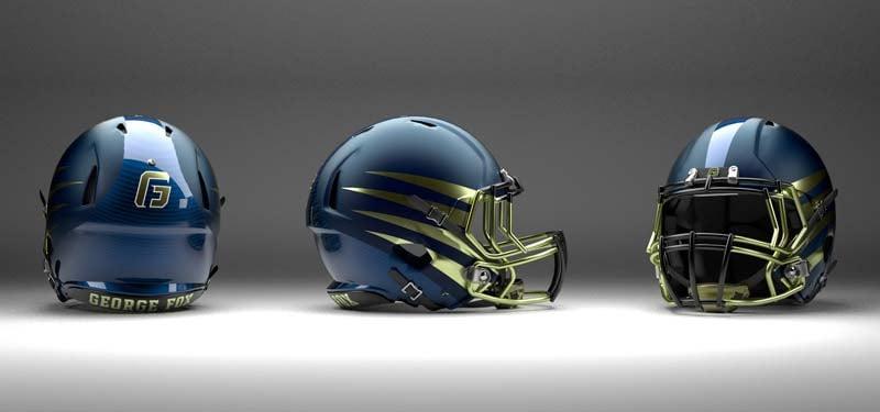 George Fox University football helmets