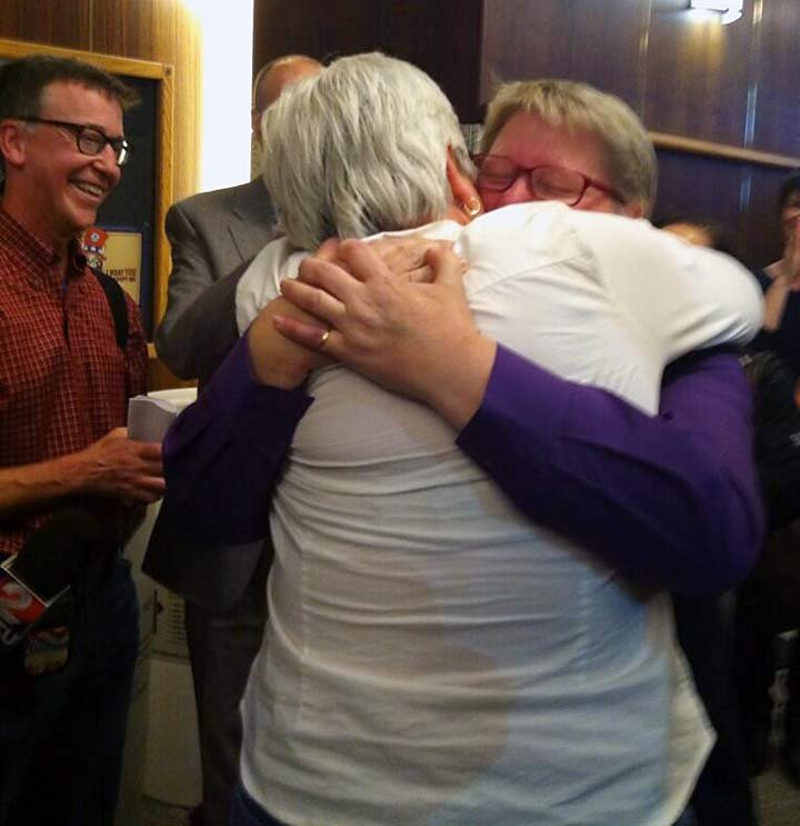 Two plaintiffs in the case married after getting their license. The officiant was one of their fellow plaintiffs.