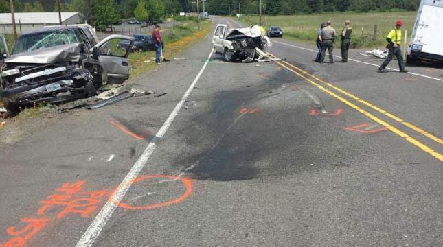 Highway 213 crash // Photo: OSP