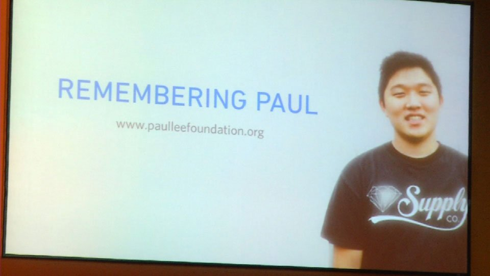 Paul Lee's father and brother set up a foundation in the young man's name.