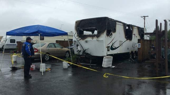 Two children killed in trailer fire. Photo: KEZI