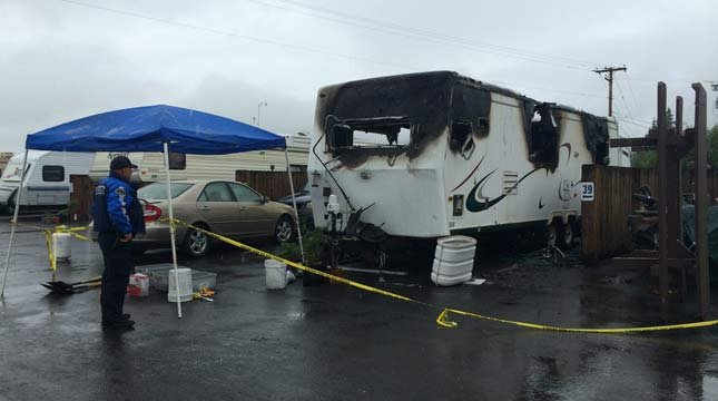 Two children killed in trailer fire. Photo: KEZI