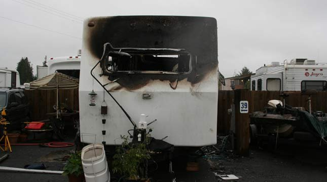 Two children killed in trailer fire. Photo: District Attorney for Coos County