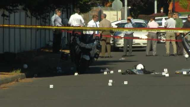 Sapp faces attempted murder charges in the shooting of a Vancouver motorcycle officer.
