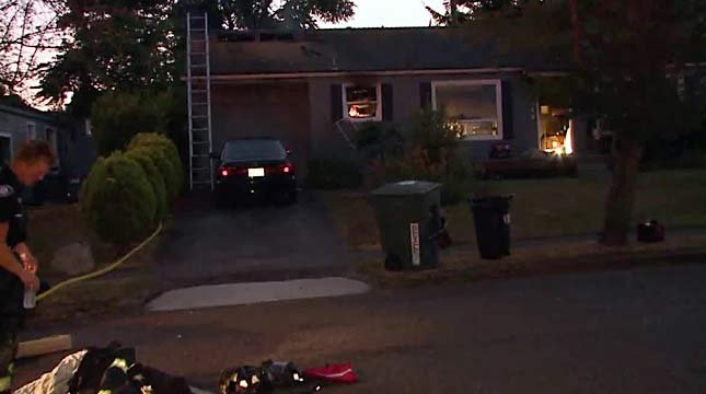 It appears the man used a spray paint can and a lighter in an effort to kill a spider in the wall, Seattle fire officials say. (Photo: Q13Fox.com)