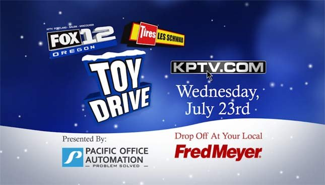 FOX 12 Christmas In July Toy Drive