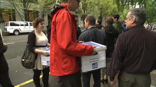 Election workers say petitioners submitted 88,584 valid signatures -- about 1,400 more than required. Photo from June in Salem.