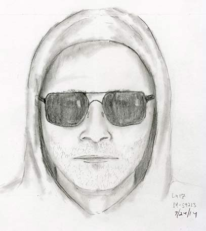 Sketch of Southeast 49th Avenue shooting suspect.