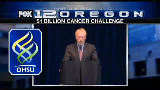 Phil Knight and his wife Penny pledged $500 for cancer research if OHSU raised an equal amount by February 2016.