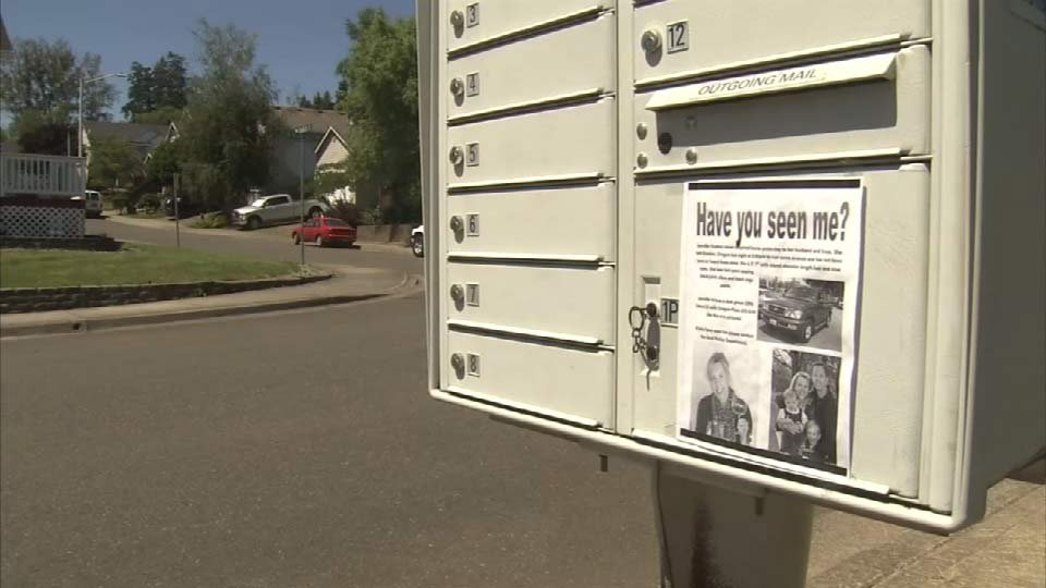 Fliers are posted all over Huston's neighborhood