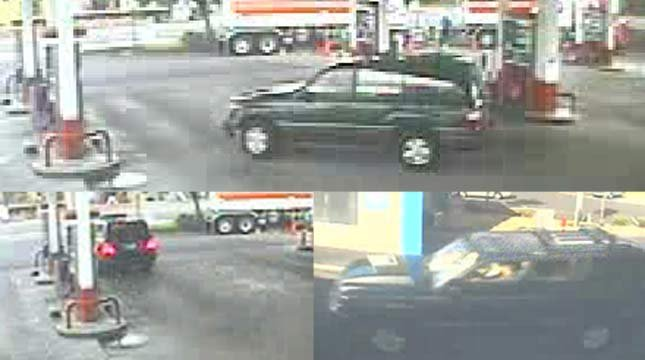 Jennifer Huston drives a dark green 1999 Lexus LX 470 with Oregon license plate WXH 011.