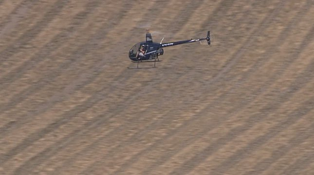 Private helicopters took part in the search for Jennifer Huston on Wednesday.