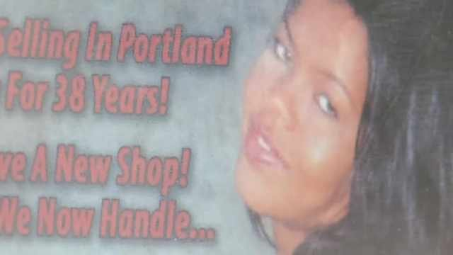 Part of the poster that had neighbors upset in the window of a SE Portland adult shop.