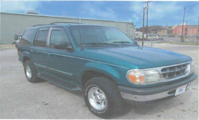 This photo provided by the Sheriff's Office is of an SUV similar to the one driven by the missing campers.