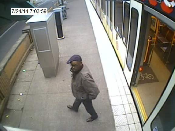 Portland police released a surveillance image of a man accused of exposing himself to a woman on a MAX train.