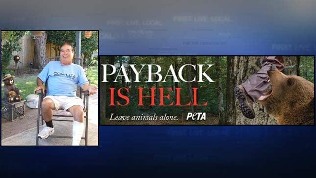 PETA creates billboard based on Longview hunter's bear encounter