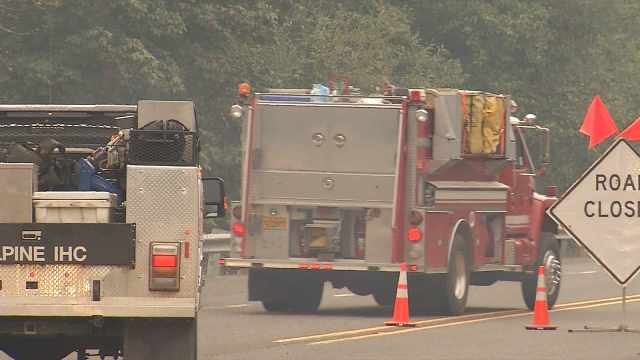 As many as 800 people were expected to be involved in fighting the wildfire near Estacada.