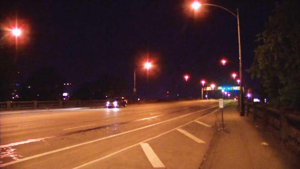 The alleged attack happened on the west end of the Burnside Bridge