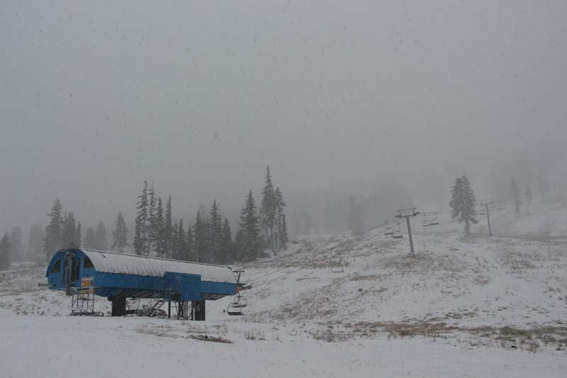 The first snow of the season fell overnight at Mt. Bachelor. (Photo: Mt. Bachelor)