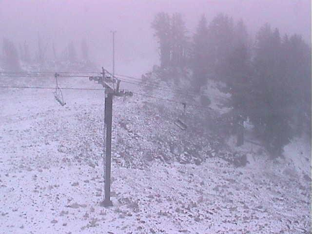 Mt. Hood Meadows tweeted out a photo of the first snow of the season. (Photo: Mt. Hood Meadows)