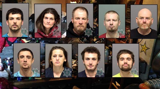 Deputies: Meth, heroin at 'problem house' near Milwaukie, 9 arrested