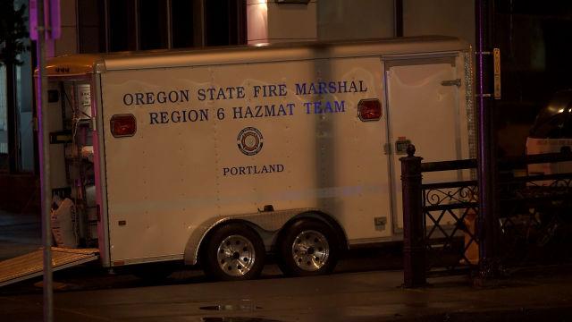 HazMat responds to chemical leak in Portland