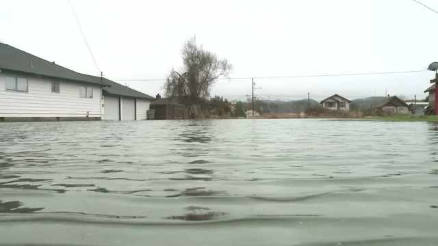 Flooding in Aberdeen. (Image: Q13)