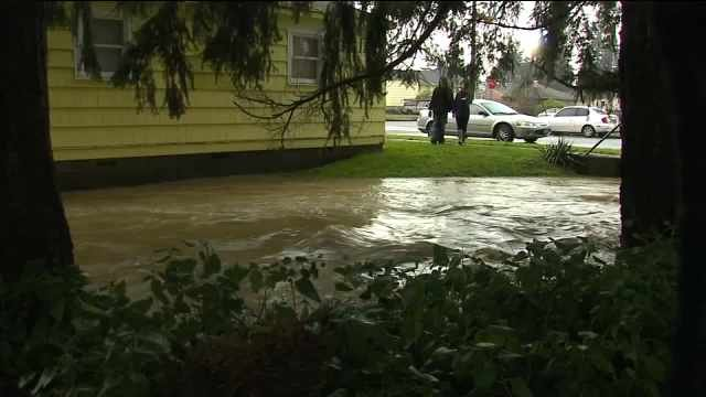 Flooding in Centralia. (Image: KCPQ)