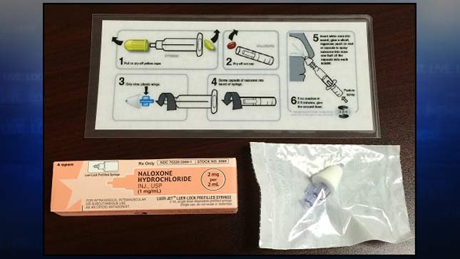 Naloxone drug overdose antidote kit. (Photo: Portland Police Bureau)