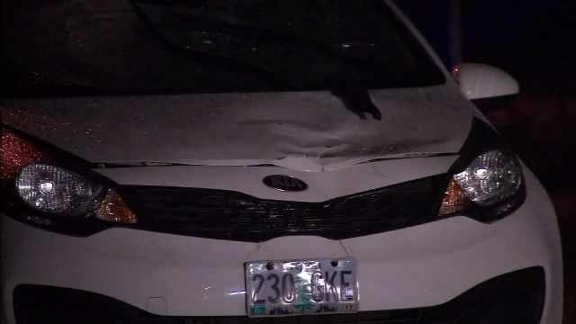 The vehicle that struck Sarah Hollenback and her friends.