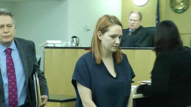 Stephanie McCrea in court Wednesday.