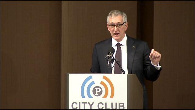 Mayor Charlie Hales proposes minimum wage increase.