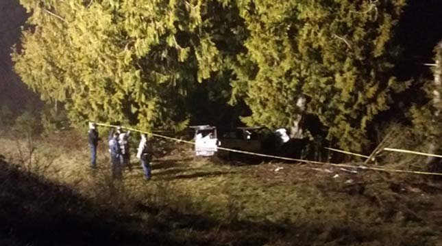 File image of fatal crash following police chase. Source: Oregon State Police