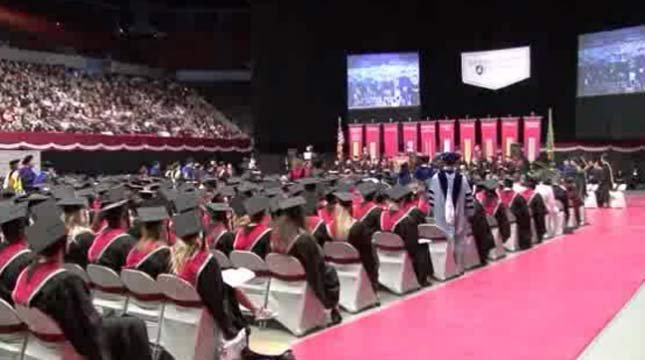 WSU commencement ceremony, file image