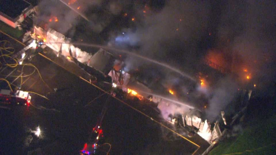 AIR 12 view of fire