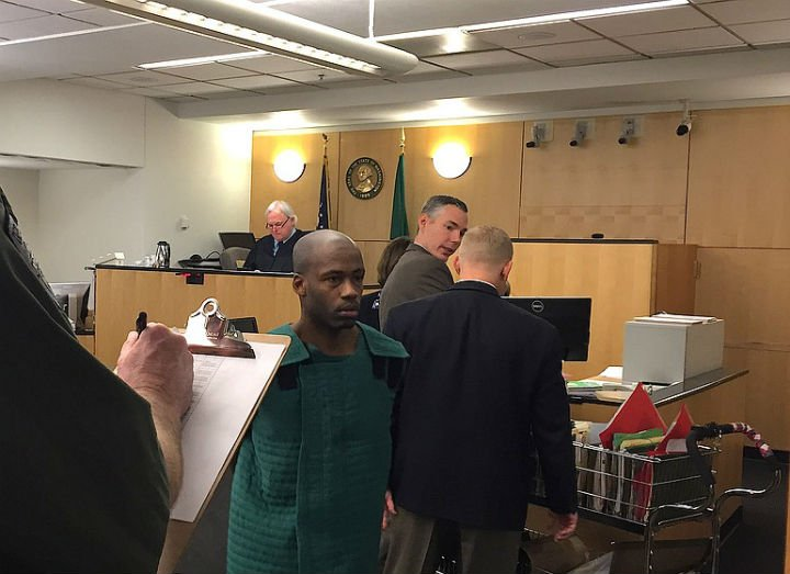 Gregory Wright appeared in Clark County Superior Court on Friday. (Photo courtesy of The Columbian newspaper).