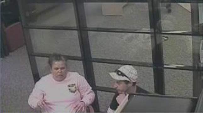 Surveillance image of Bobbi Ann Finley and Zackerie House. Photo from Marion County Sheriff's Office.