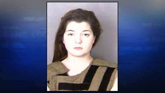 Haley Fox, jail booking photo
