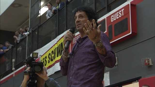 Journey drummer Deen Castronovo at South Albany High School