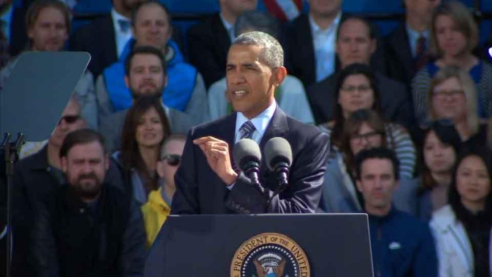 President Obama speaks at Nike HQ