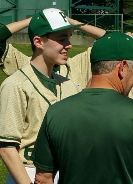 Jackson Elkins in his baseball uniform.