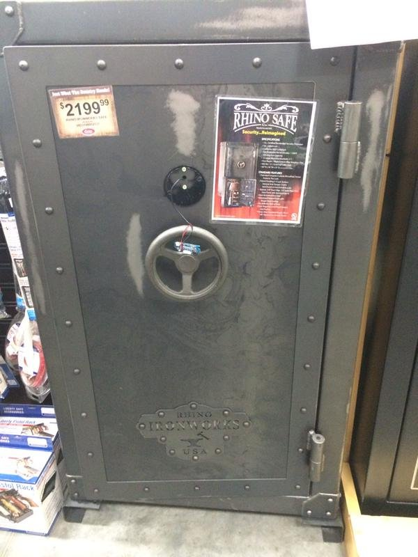 The safe the teenager was locked in (Photo: Cornelius Fire Dept./Twitter)