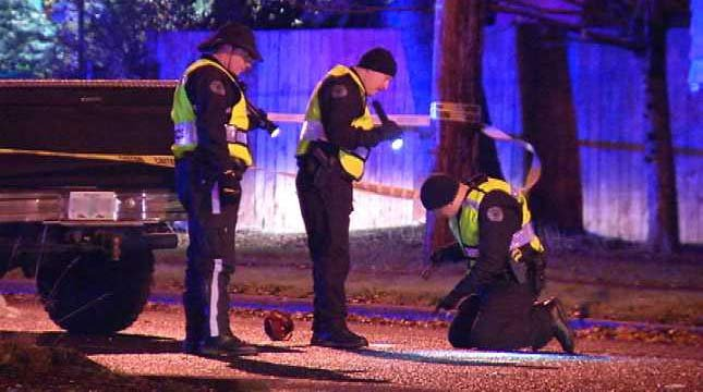 Scene of deadly collision in Vancouver, December 2012 file image