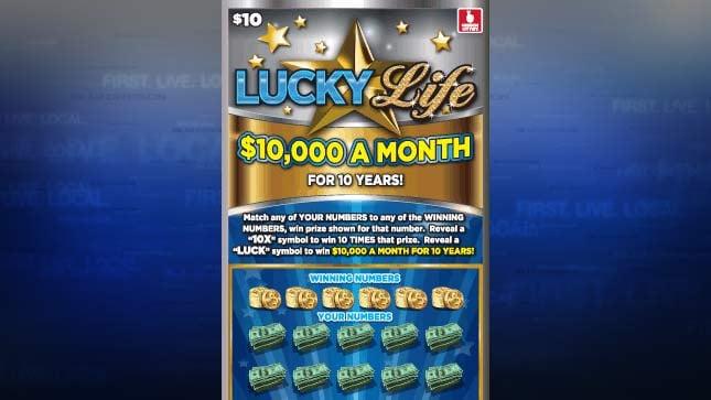 Lucky Life Oregon Lottery ticket