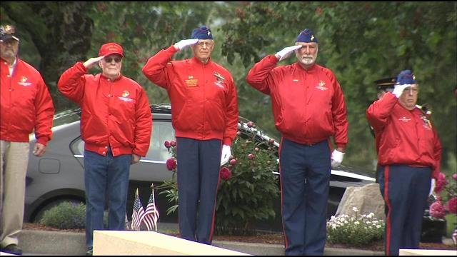 File photo of veterans gathered at Willamette National Cemetery