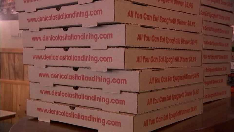 Donna DeNicola offered Rob and Holly Marsh a free pizza every month for life along with her offer to buy their home