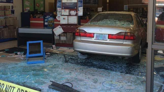 Car Slams Into Tigard Post Office, One Customer Taken To Hospita   KPTV    FOX 12