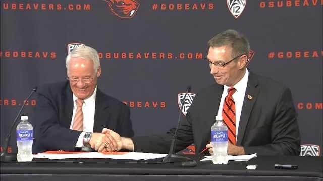OSU President Ed Ray and Todd Stansbury