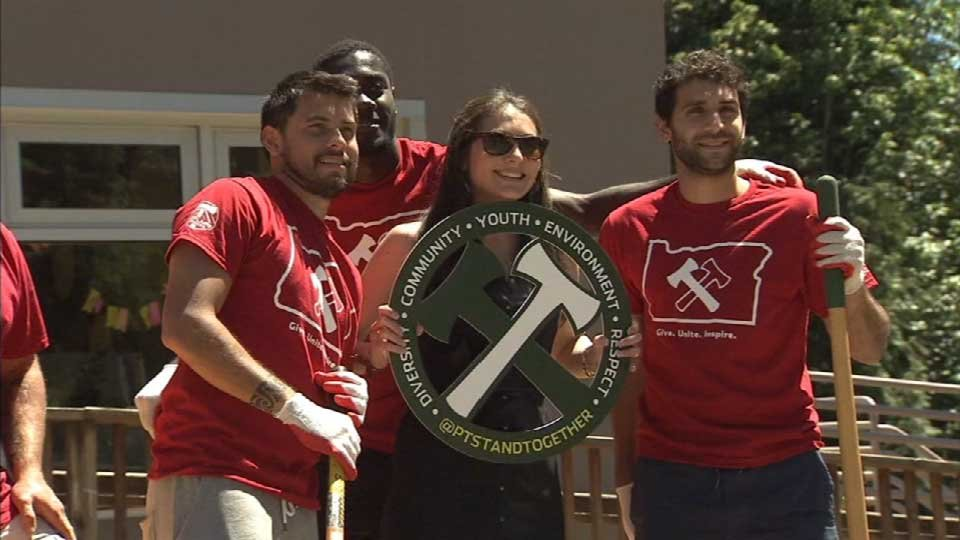 The Timbers dedicate more than 7,000 hours of volunteer work each year for Stand Together Week.