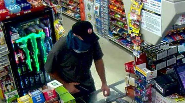 Surveillance image of Plaid Pantry robbery suspect released by Beaverton PD.